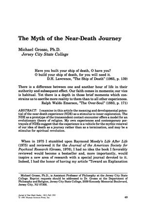 Primary view of object titled 'The Myth of the Near-Death Journey'.
