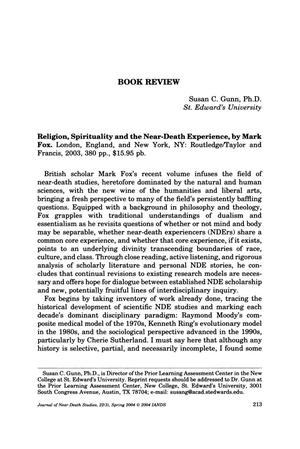 Primary view of object titled 'Book Review: Religion, Spirituality and the Near-Death Experience'.