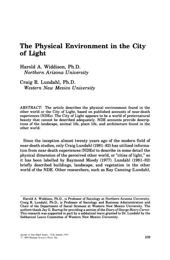 the physical environment in the city of light digital library