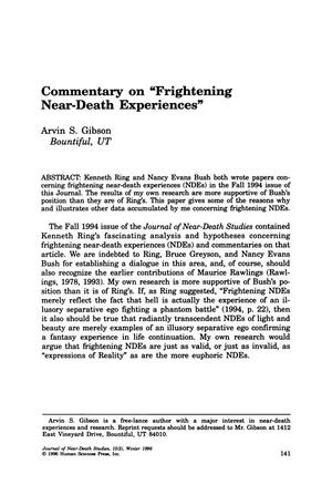 "Primary view of object titled 'Commentary on ""Frightening Near-Death Experiences""'."