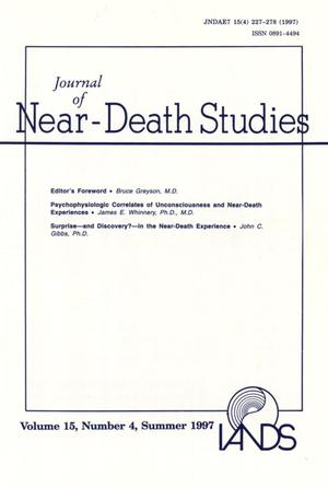 Primary view of object titled 'Journal of Near-Death Studies, Volume 15, Number 4, Summer 1997'.