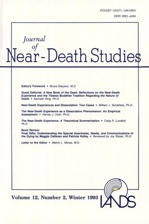 Primary view of object titled 'Journal of Near-Death Studies, Volume 12, Number 2, Winter 1993'.