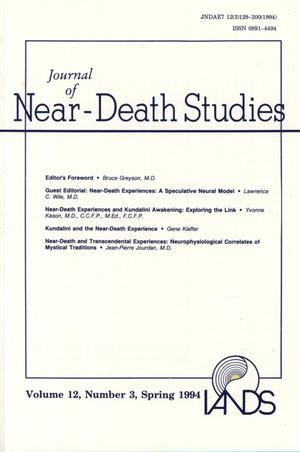 Primary view of object titled 'Journal of Near-Death Studies, Volume 12, Number 3, Spring 1994'.