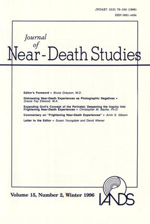 Primary view of object titled 'Journal of Near-Death Studies, Volume 15, Number 2, Winter 1996'.
