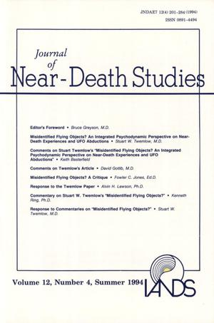 Primary view of object titled 'Journal of Near-Death Studies, Volume 12, Number 4, Summer 1994'.