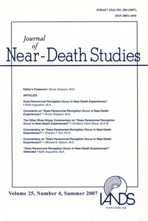 Primary view of object titled 'Journal of Near-Death Studies, Volume 25, Number 4, Summer 2007'.