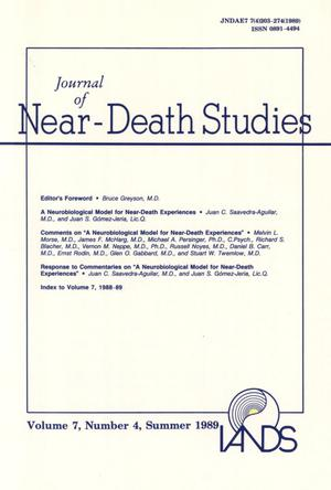Primary view of object titled 'Journal of Near-Death Studies, Volume 7, Number 4, Summer 1989'.
