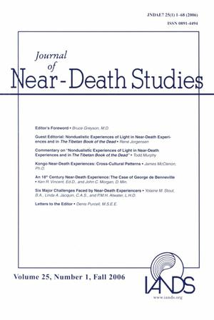 Primary view of object titled 'Journal of Near-Death Studies, Volume 25, Number 1, Fall 2006'.
