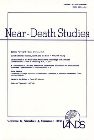 Primary view of object titled 'Journal of Near-Death Studies, Volume 6, Number 4, Summer 1988'.
