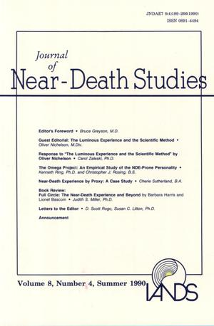 Primary view of object titled 'Journal of Near-Death Studies, Volume 8, Number 4, Summer 1990'.