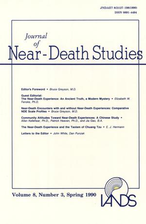 Primary view of object titled 'Journal of Near-Death Studies, Volume 8, Number 3, Spring 1990'.