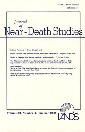 Primary view of object titled 'Journal of Near-Death Studies, Volume 10, Number 4, Summer 1992'.