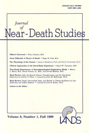 Primary view of object titled 'Journal of Near-Death Studies, Volume 8, Number 1, Fall 1989'.
