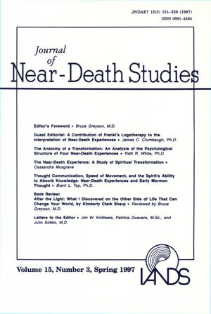 Primary view of object titled 'Journal of Near-Death Studies, Volume 15, Number 3, Spring 1997'.