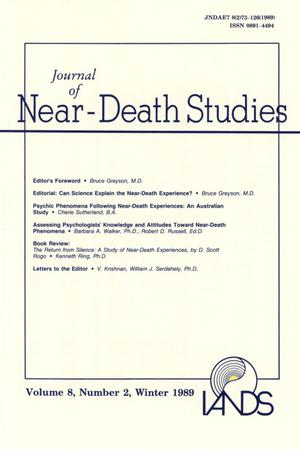 Primary view of object titled 'Journal of Near-Death Studies, Volume 8, Number 2, Winter 1989'.