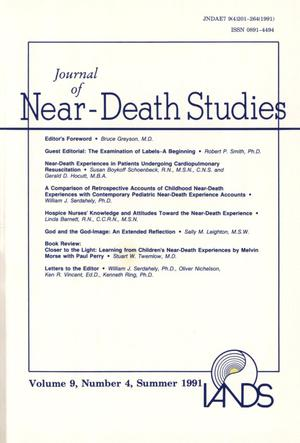 Primary view of object titled 'Journal of Near-Death Studies, Volume 9, Number 4, Summer 1991'.