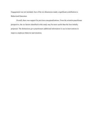 employee engagement dissertation