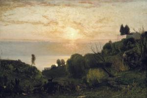 Primary view of object titled 'Lake Albano Sunset'.
