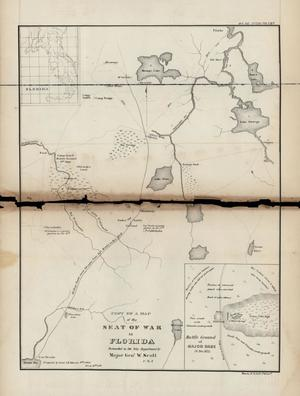 Primary view of Copy of a Map of the Seat of War in Florida