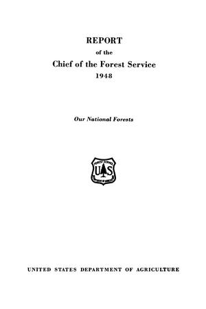 Primary view of object titled 'Report of the Chief of the Forest Service: 1948'.