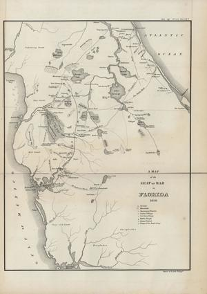 Primary view of Copy of a Map of the Seat of War in Florida, 1836