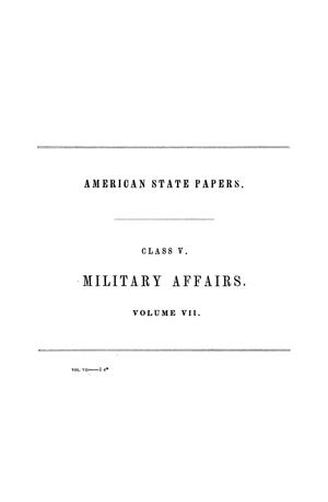 Primary view of American State Papers, Second Session of the Twenty-Fourth Congress, First and Second Sessions of the Twenty-Fifth Congress, Volume 7