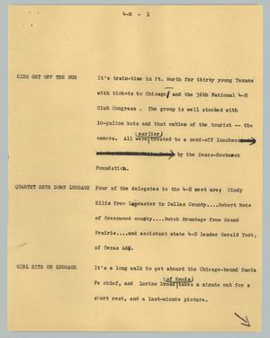 Primary view of [News Script: 4-H]