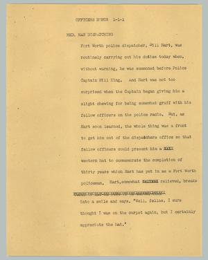 Primary view of object titled '[News Script: Officers honor]'.