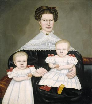 Primary view of object titled 'Mrs Paul Smith Palmer and Her Twins'.