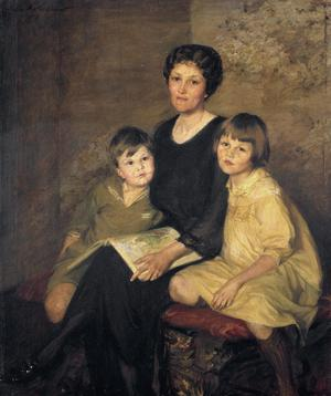 Primary view of object titled 'Harriet Lancashire White and Her Children'.