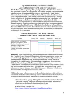 My Texas History Notebook Interactive Lesson Plans For 4th And 7th