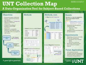 Primary view of object titled 'UNT Collection Map: A Data-Organization Tool for Subject-Based Collections'.