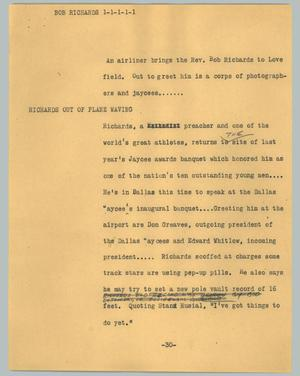 Primary view of object titled '[News Script: Bob Richards]'.