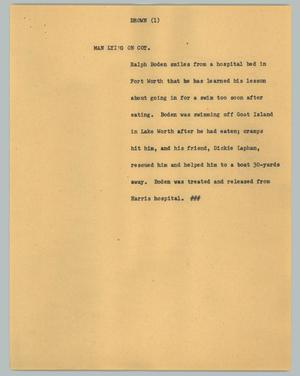 Primary view of object titled '[News Script: Drown]'.
