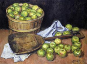 Primary view of object titled 'Green Apples and Scoop'.