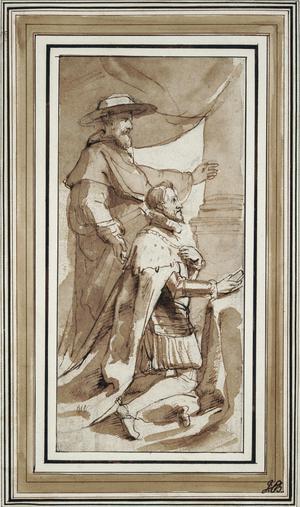 Primary view of Archduke Albert with His Patron Saint, Albert of Louvain