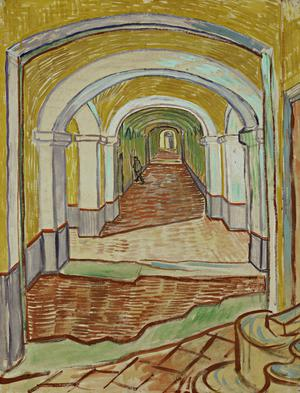 Primary view of object titled 'Hospital Corridor at Saint-Rémy'.