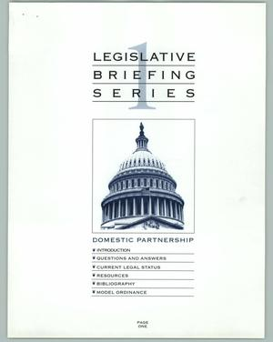 Primary view of object titled '[Legislative Briefing Series: Domestic Relationship]'.