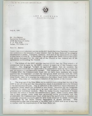 Primary view of object titled '[Lee F. Jackson Letters]'.