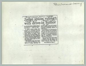 Primary view of object titled '[News Article: Humor in the Ruling]'.