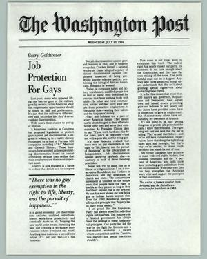 Primary view of object titled 'Job Protection For Gays'.