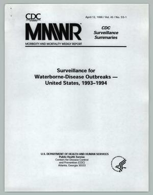Primary view of object titled 'Surveillance for Waterborne-Disease Outbreaks - United States, 1993-1994'.