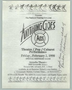 Primary view of object titled '[Anything Goes, Against Aids]'.