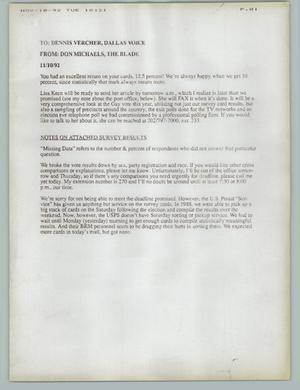 Primary view of object titled '[Letter: Don Micheals, The Blade]'.