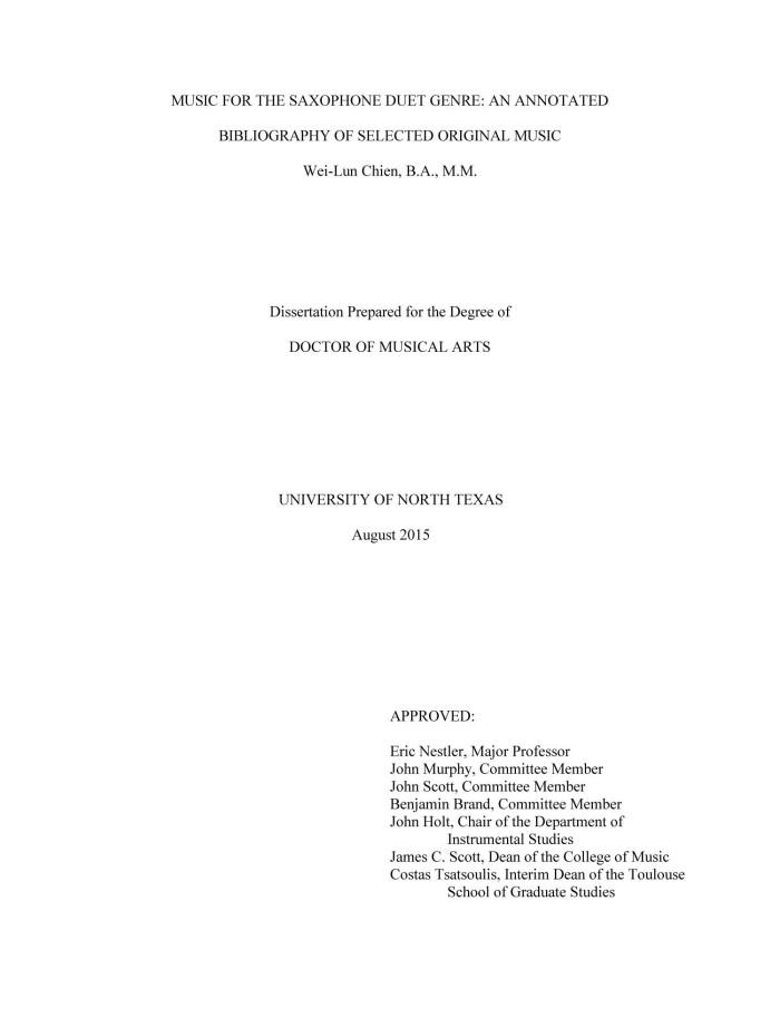 Bibliography dissertation