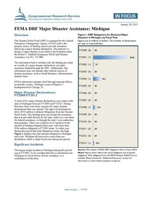 Primary view of object titled 'FEMA DRF Major Disaster Assistance: Michigan'.
