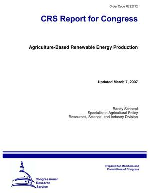 Primary view of object titled 'Agriculture-Based Renewable Energy Production'.