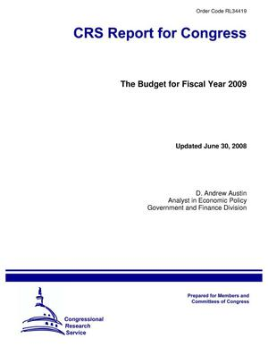 Primary view of object titled 'The Budget for Fiscal Year 2009'.