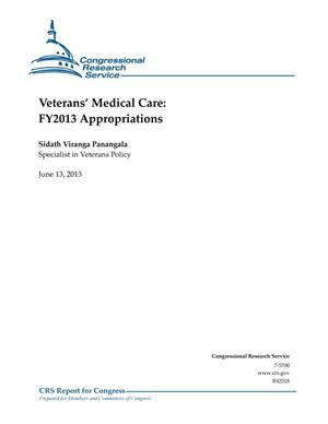 Primary view of object titled 'Veterans' Medical Care: FY2013 Appropriations'.