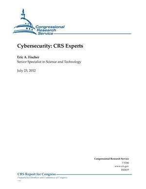 Primary view of object titled 'Cybersecurity: CRS Experts'.